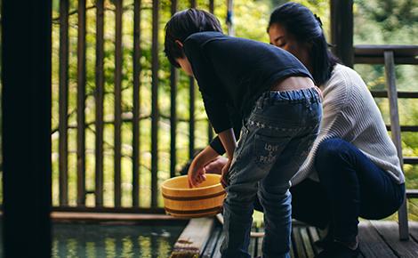 客室付 寝湯 入浴イメージ
