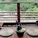 【足湯客室】ワインで乾杯・・・足湯に浸かり、もみじ谷で森林浴はいかが?
