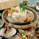 【夕食】箸でほぐれるほど柔らかい蒸し鶏は絶品!