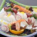 【夕食】新鮮な魚介のお造りを盛り合わせ~一例