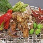 【夕食】旬菜を炭火焼でお召し上がりください。