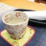 当館のウェルカムティーの唐辛子梅昆布茶