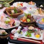 春の和会席季節の食材をふんだんにつかった「薩摩郷土料理会席」(例)